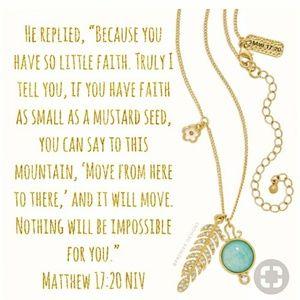 Premier Design Matthew 17:20. ReversibleNecklace.